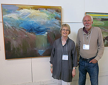 Juror Patricia Watkinson presented the Best of Show $3,000 award