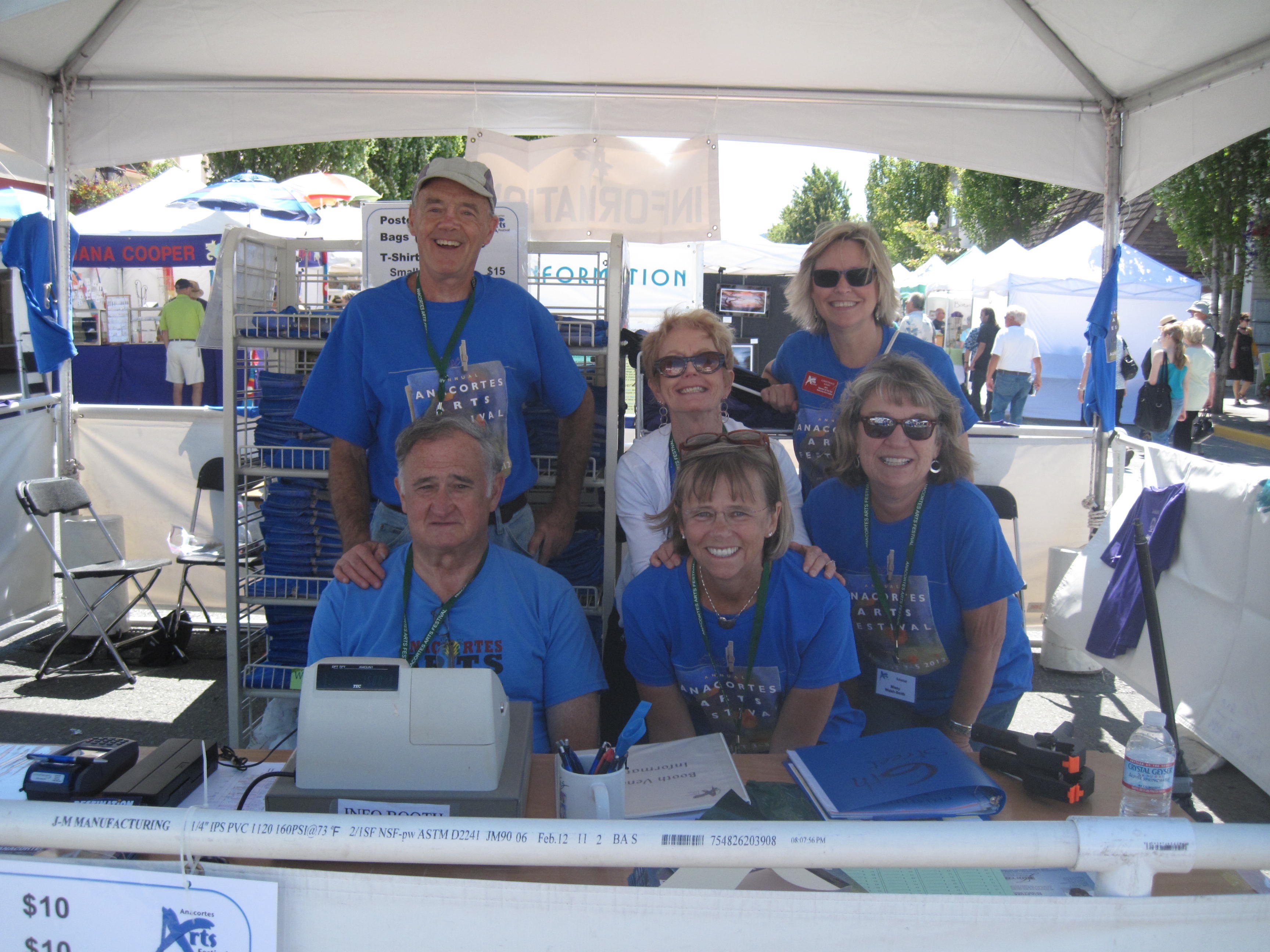 Volunteers at Info Booth